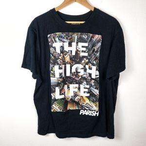 PARISH NATION Black Tee Shirt The High Life 3X GUC